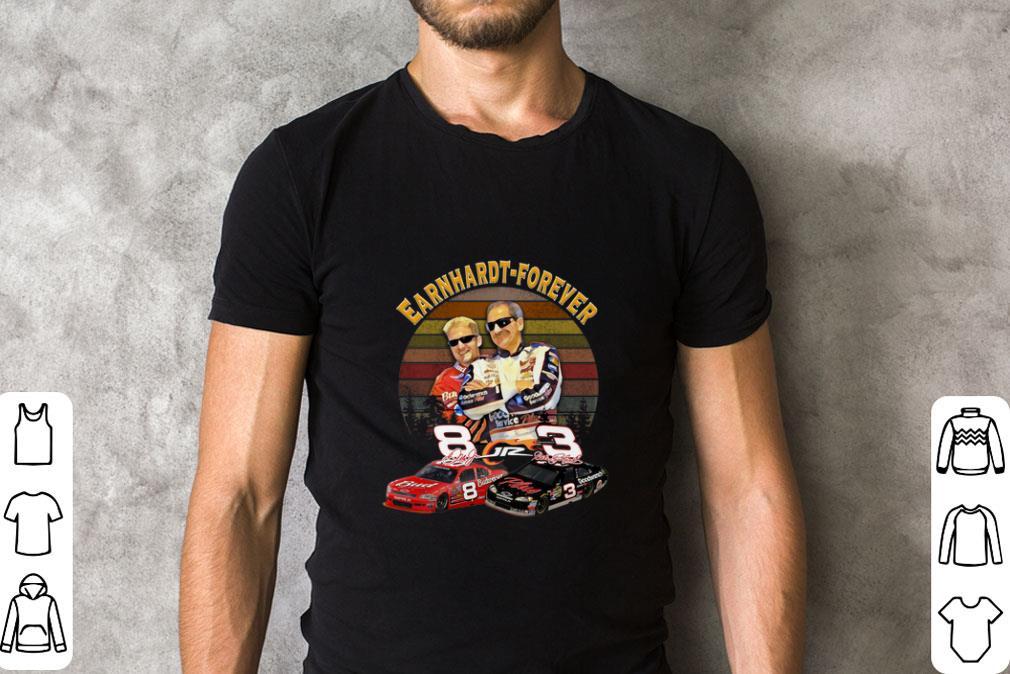 Top Earnhardt forever sunset signatures shirt