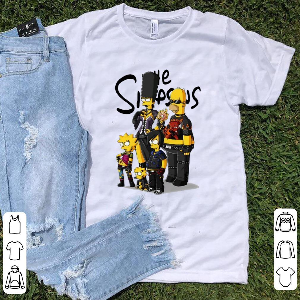 Top Simpson Family Rock N Roll shirt
