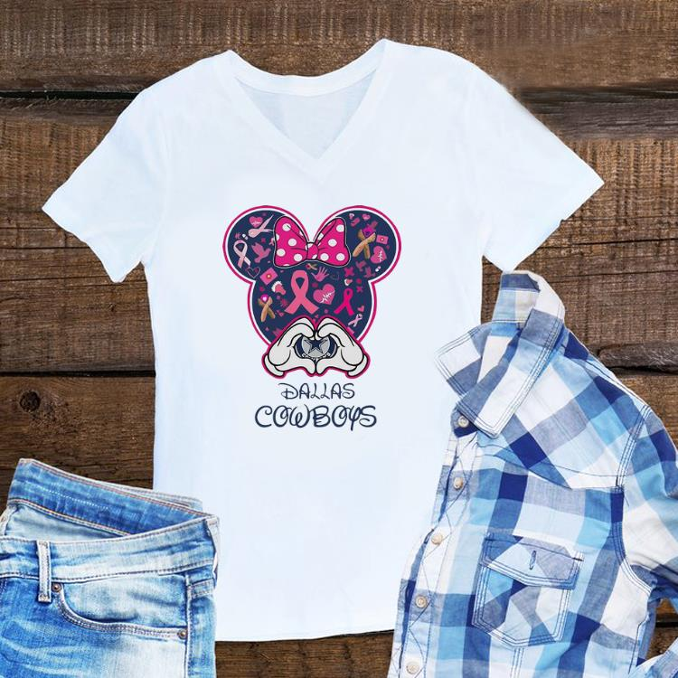 Awesome Pink Ribbon Cancer Awareness Minnie Mouse Dallas Cowboys shirt