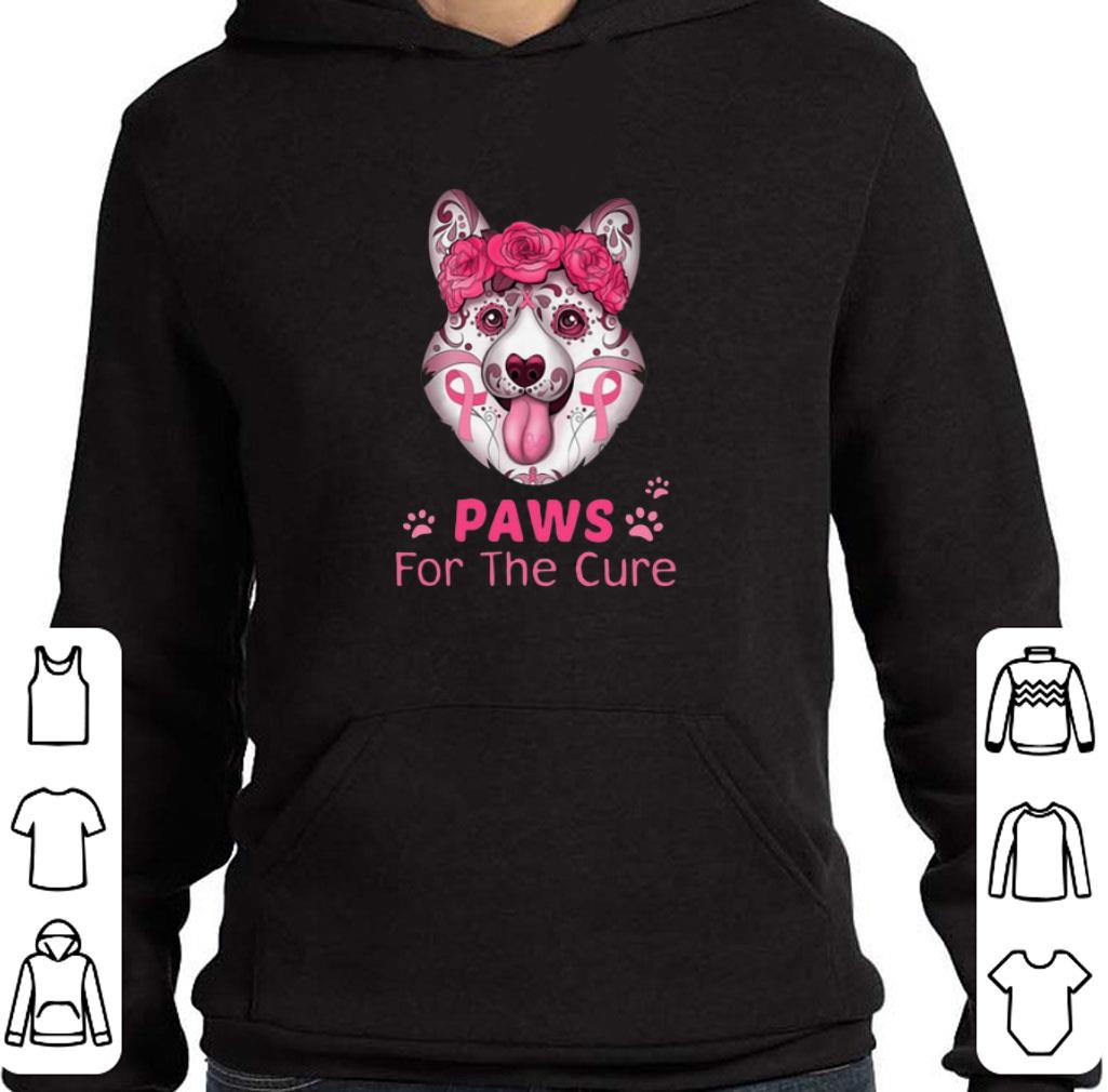Nice Corgi Paws for the cure Breast Cancer Awareness shirt