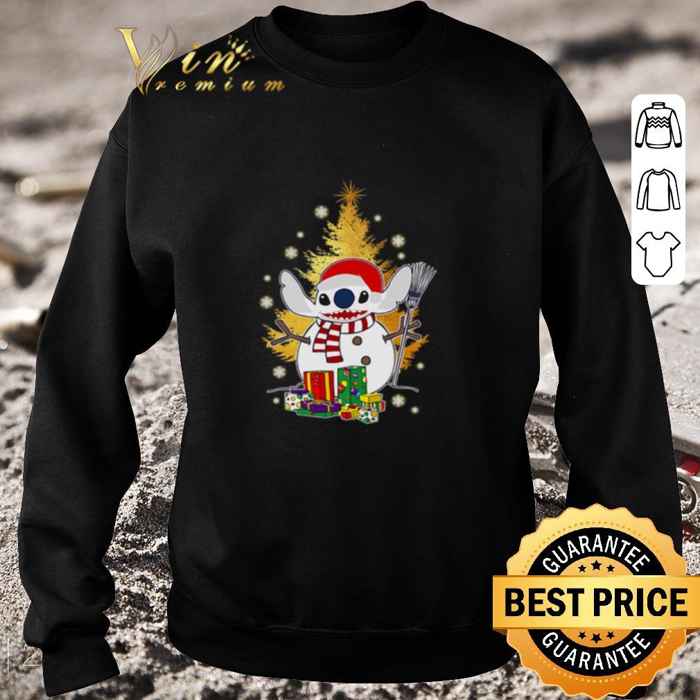 Awesome Santa Stitch make Snowman Christmas tree shirt