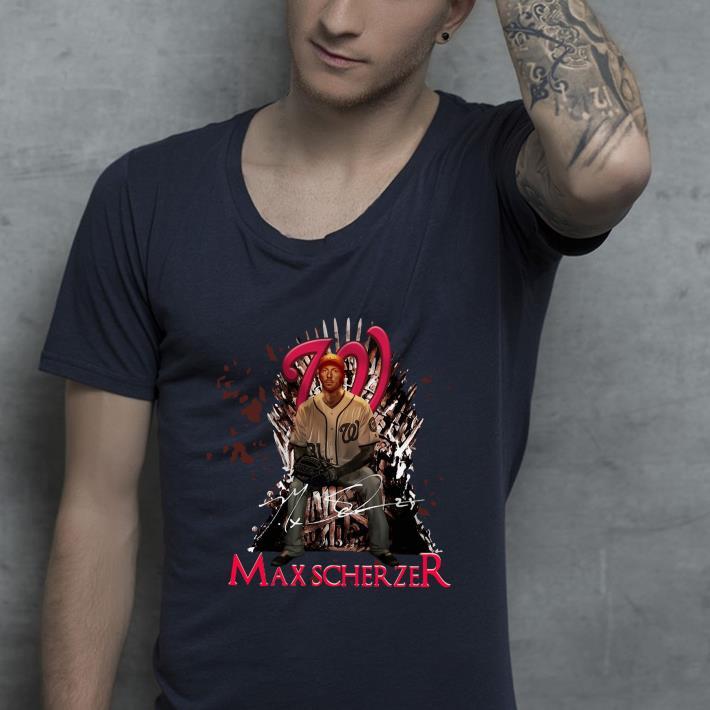 Original Game Of Thrones Max Scherzer Washington Nationals Iron Throne shirt