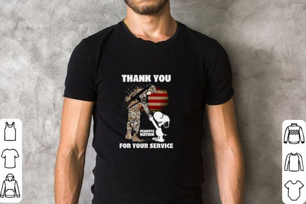 Top Snoopy veteran Thank you Peanuts nation for your service shirt