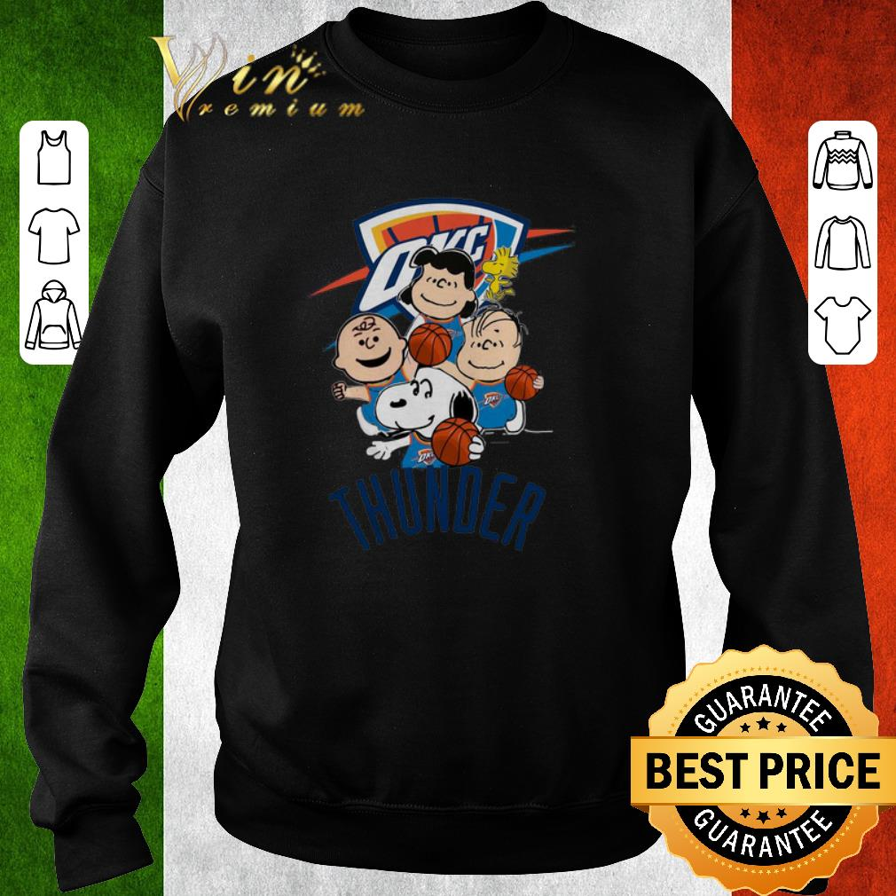 Premium Peanut characters mashup Oklahoma City Thunder shirt