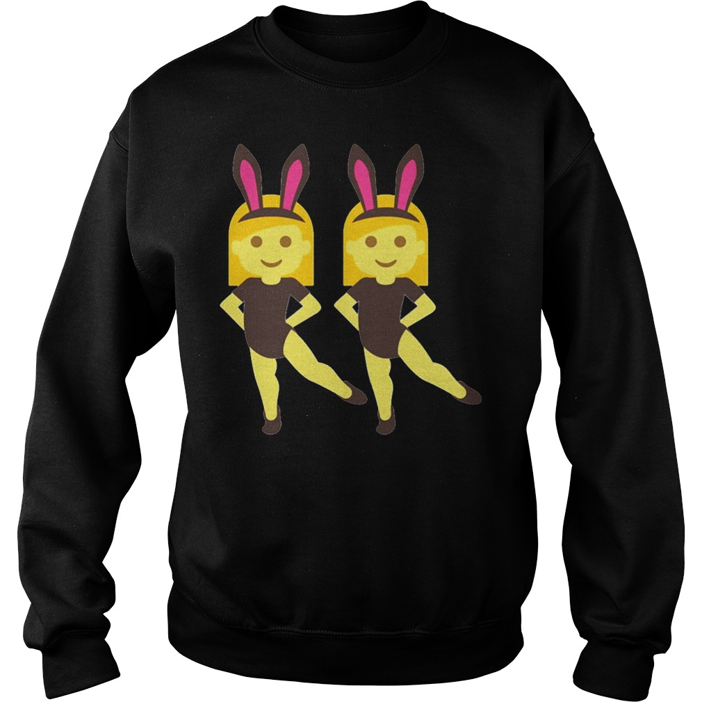 Easter Bunny Ears Face Cute Bow Sweatshirt