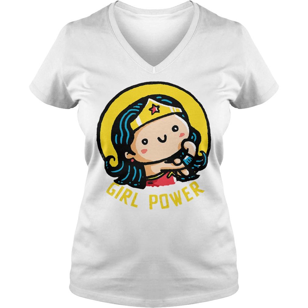 Girl Power Wonder Woman V Neck