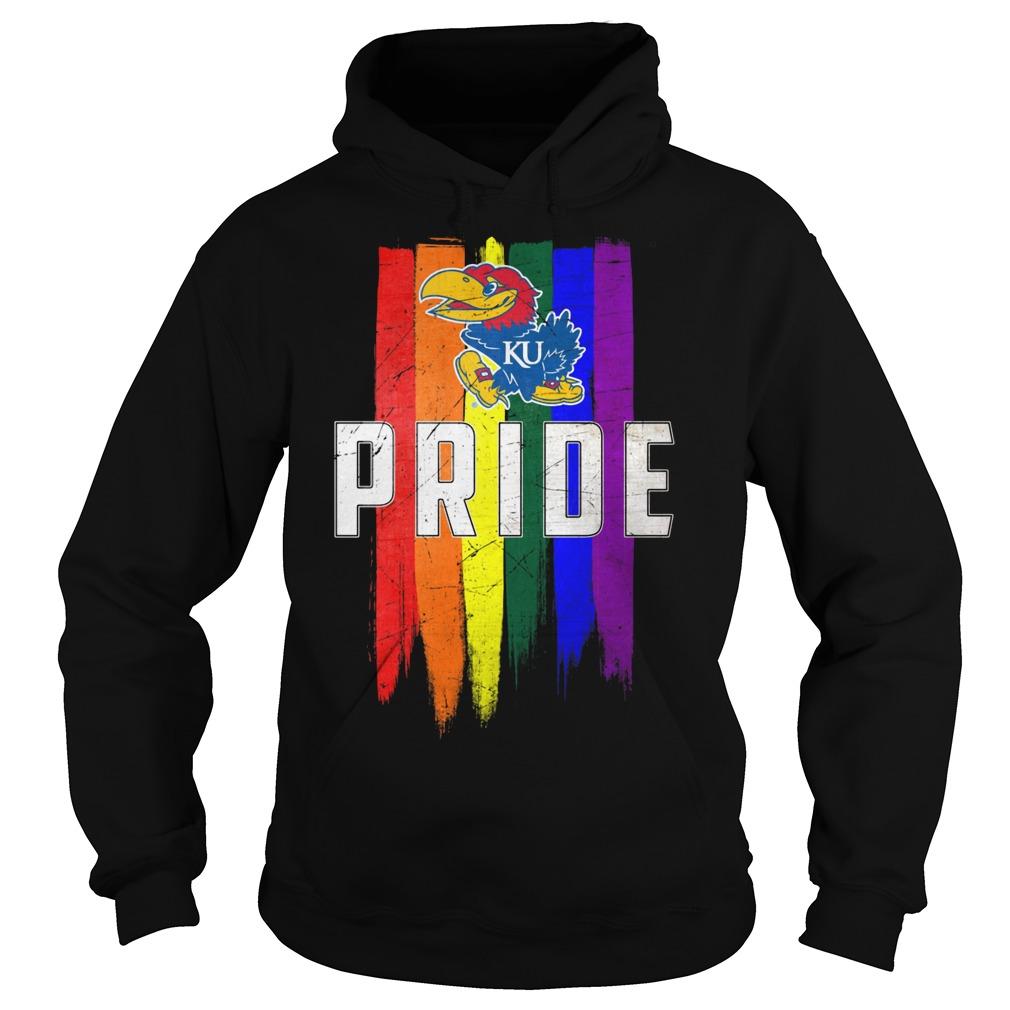 Kansas Jayhawks Lgbt Pride Flag Hoodie