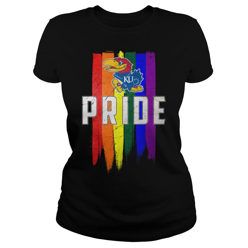 Kansas Jayhawks Lgbt Pride Flag Ladies