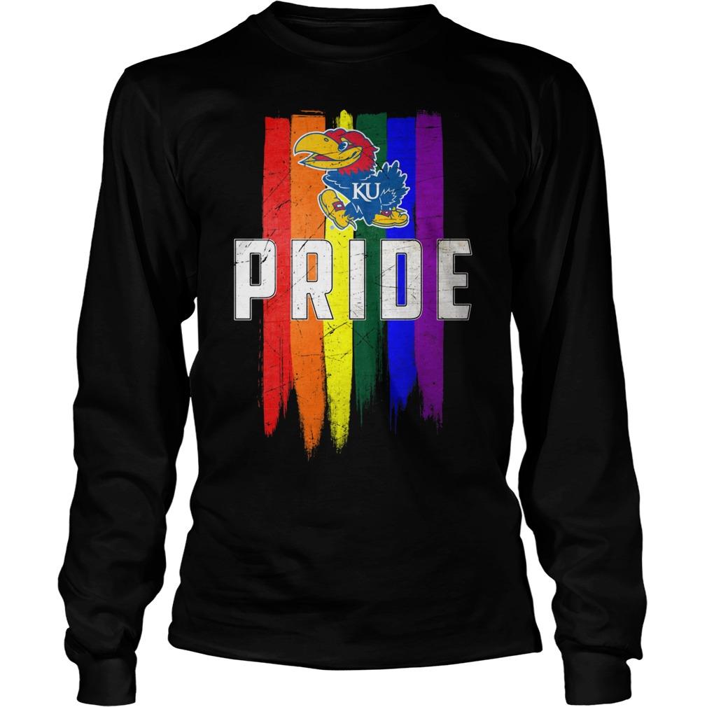 Kansas Jayhawks Lgbt Pride Flag Longsleeve