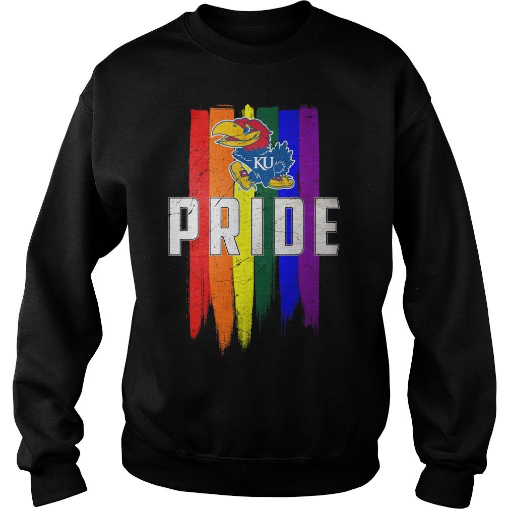 Kansas Jayhawks Lgbt Pride Flag Sweater