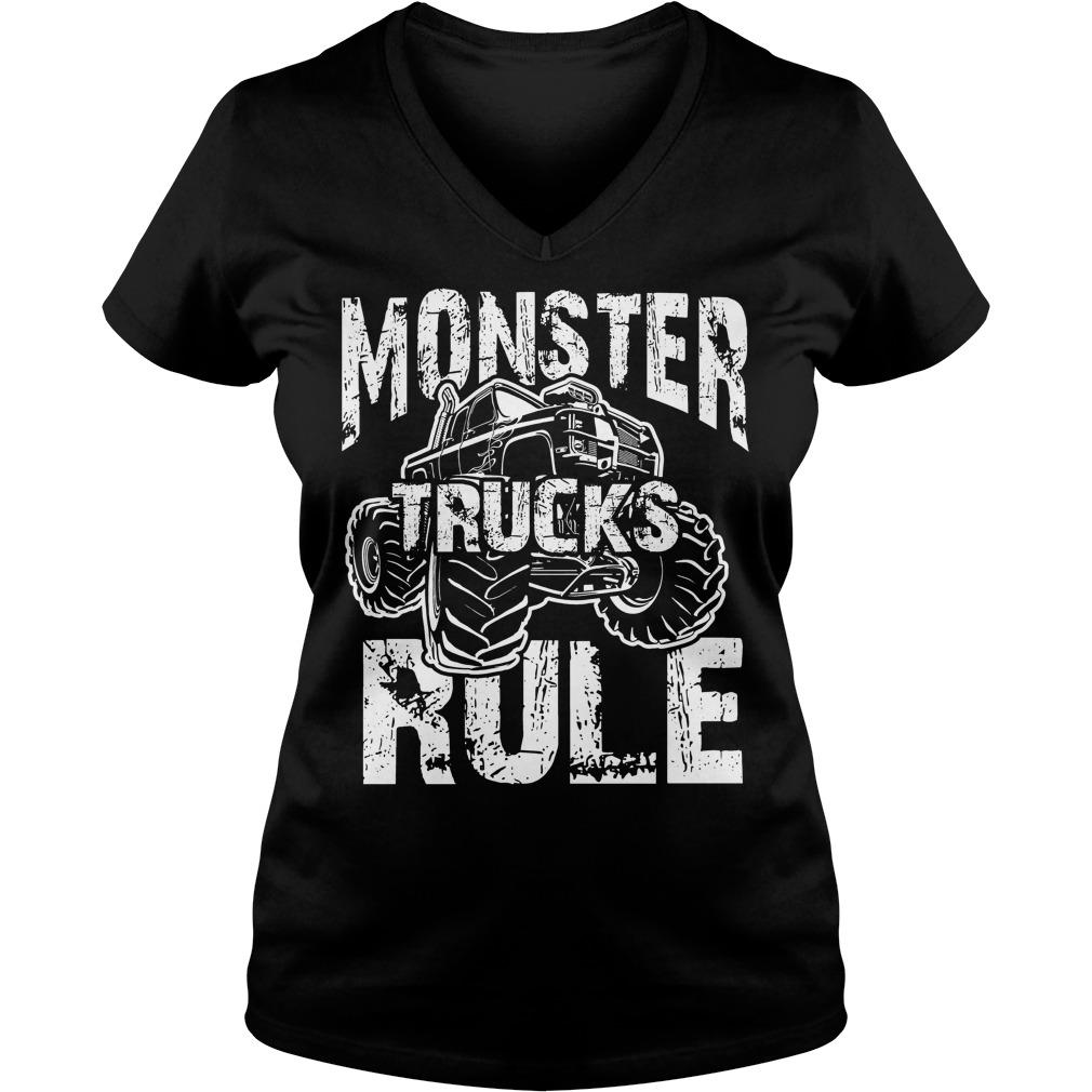 Monster Trucks Rule V Neck