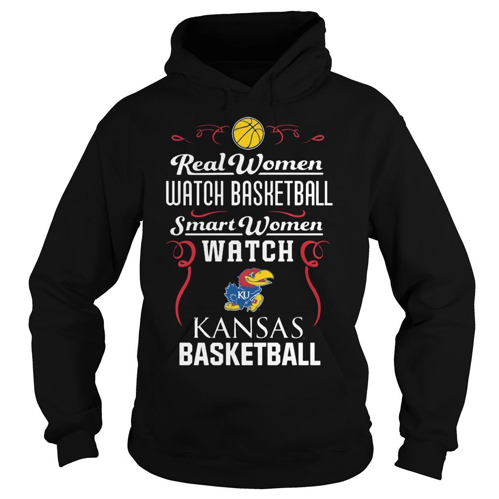Real Women Watch Baseball Smartwomen Watch Kansas Jayhawks Hoodie