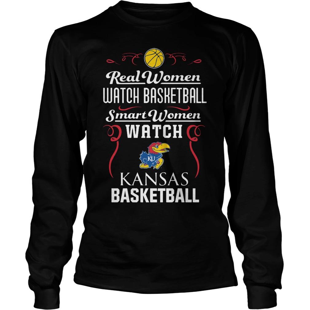 Real Women Watch Baseball Smartwomen Watch Kansas Jayhawks Longsleeve