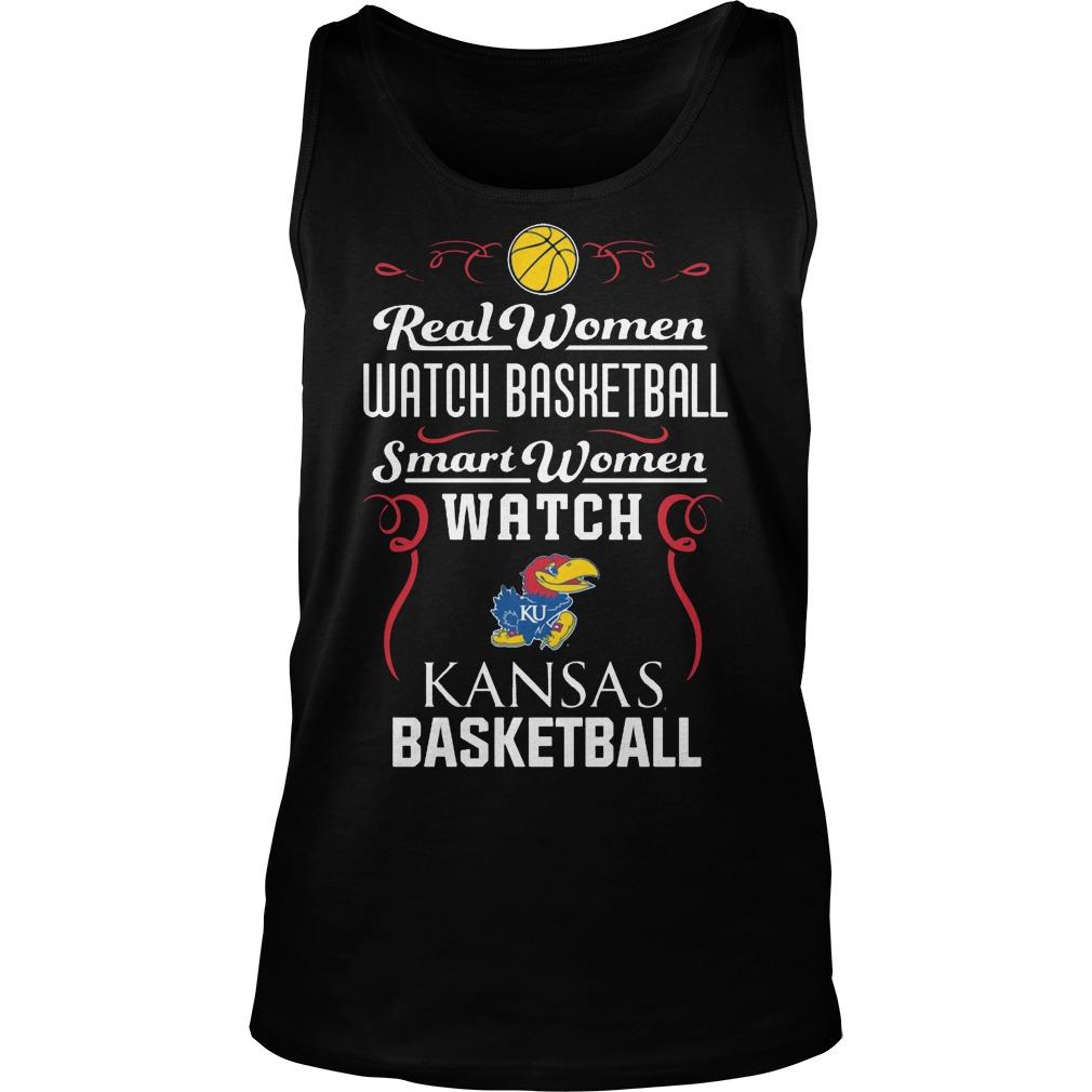 Real Women Watch Baseball Smartwomen Watch Kansas Jayhawks Tanktop