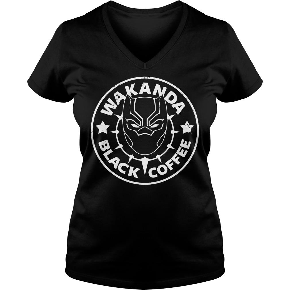 Wakanda Black Coffee V Neck