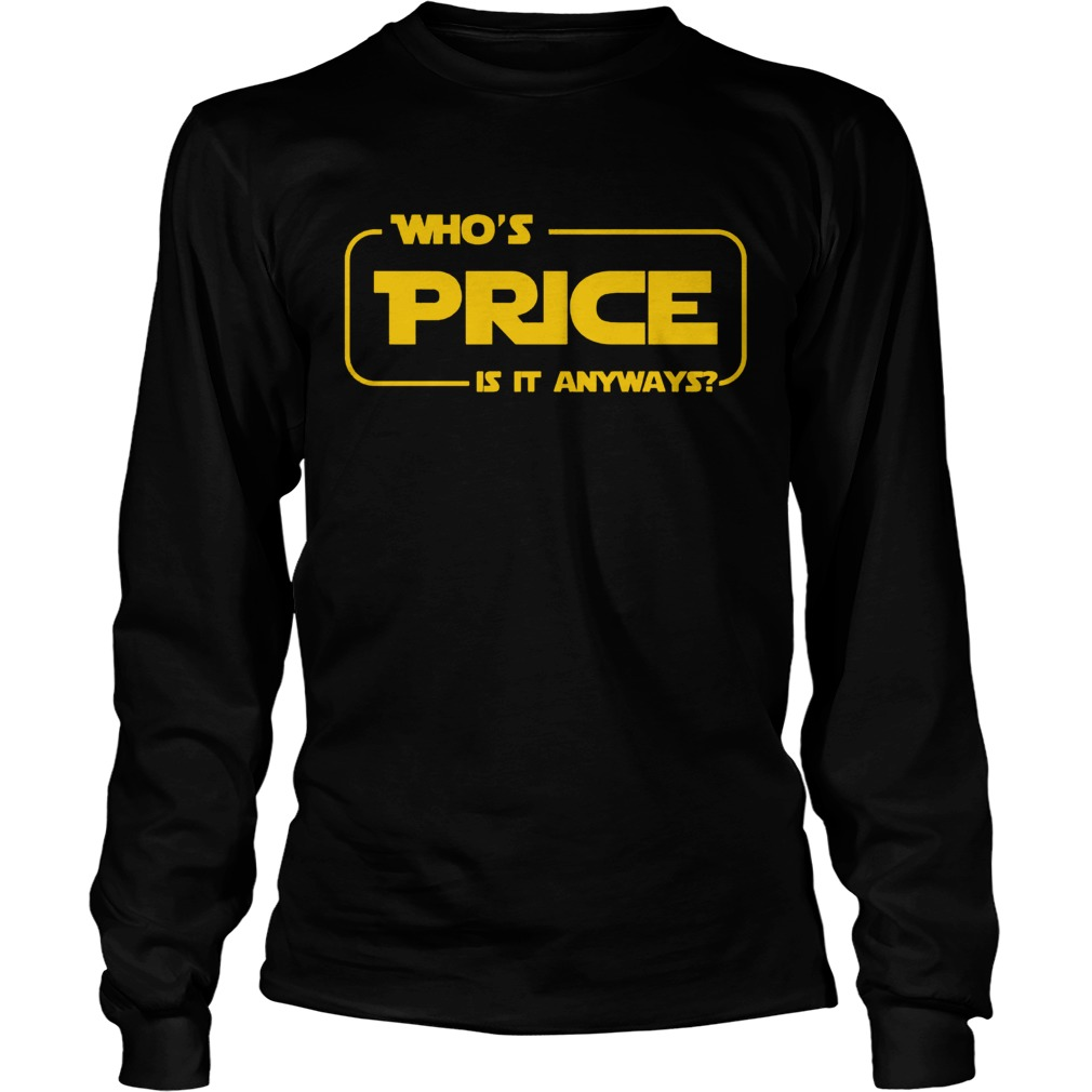 Whos Price Is It Anyway Pick Me Contestant Longsleeve