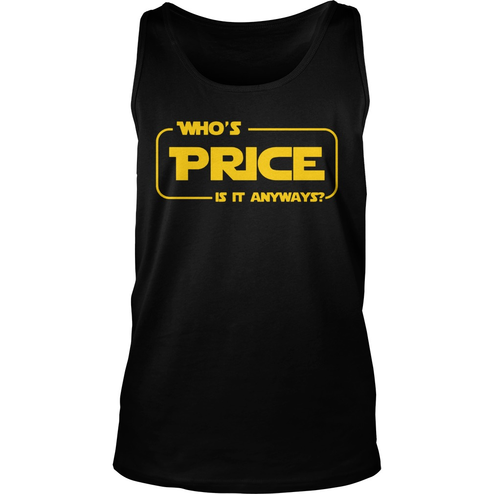 Whos Price Is It Anyway Pick Me Contestant Tanktop