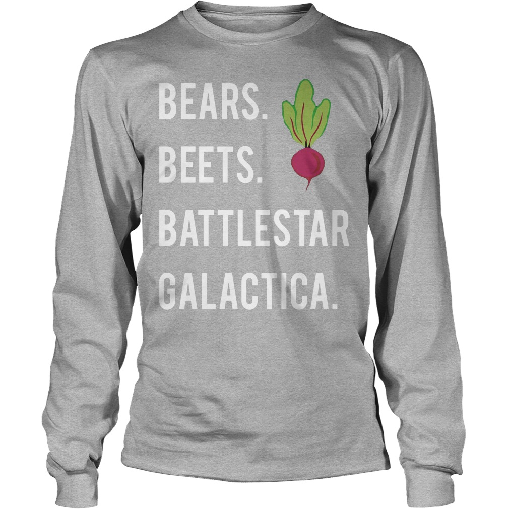 Jim Halpert Bears Beets Battlestar Galactica Longsleeve