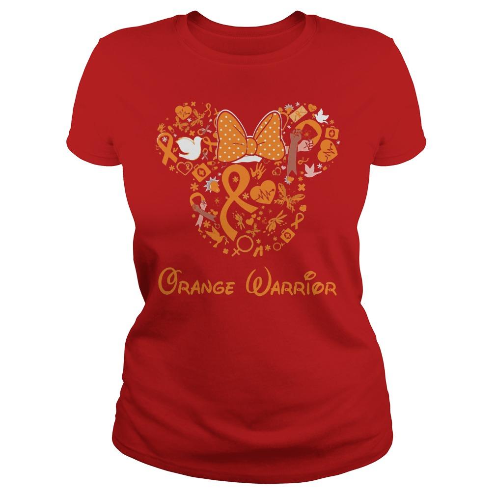 Mickey Mouse Orange Warrior Ladies
