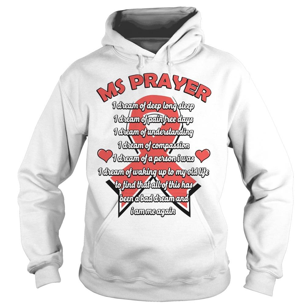 Ms Prayer Breast Cancer Hoodie