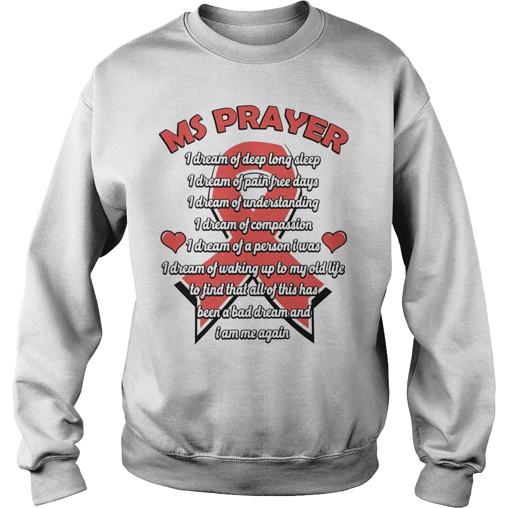 Ms Prayer Breast Cancer Sweater