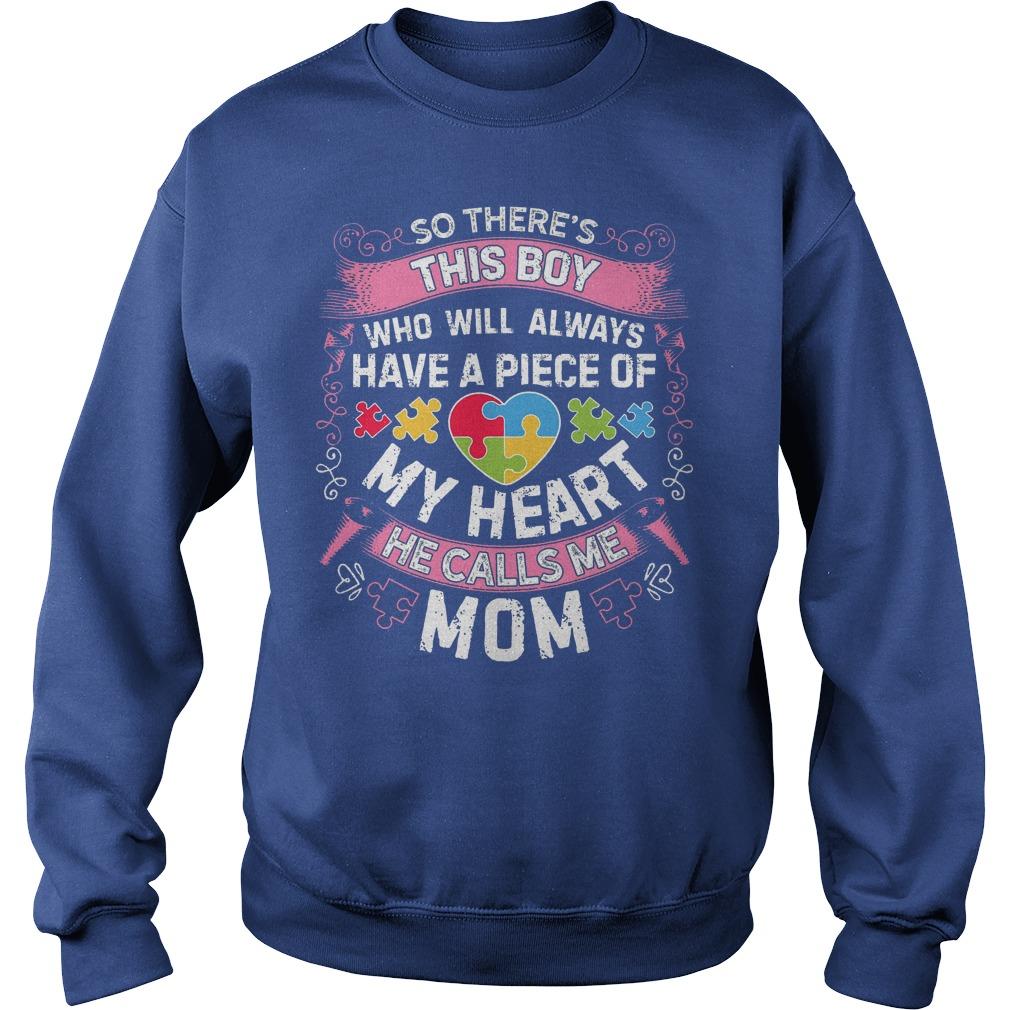 This Boy He Call Me Mom Autism Awareness Sweater
