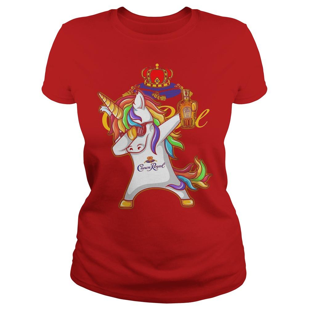 Unicorn Dabbing Crown Royal Wine Ladies