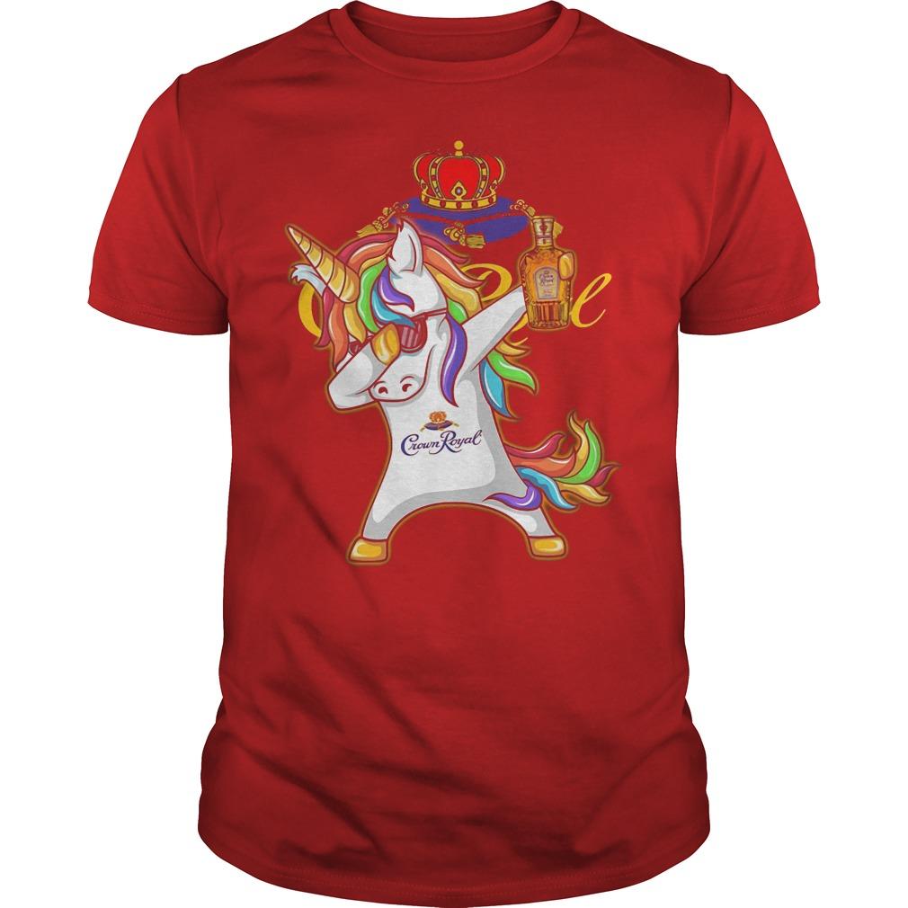 Unicorn Dabbing Crown Royal Wine Shirt