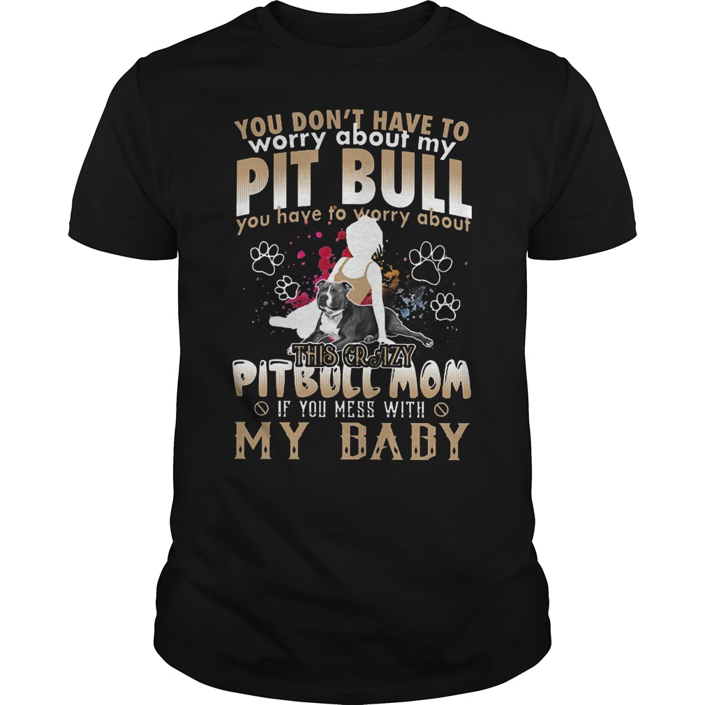 You Don't Have To Worry About My Pit Bull You Have To Worry About My Baby Shirt