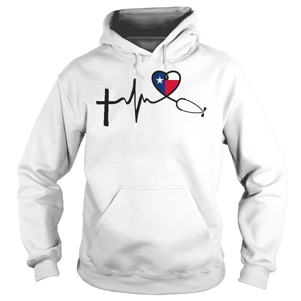 Heartbeat Faith Hope Love Texas Hoodie