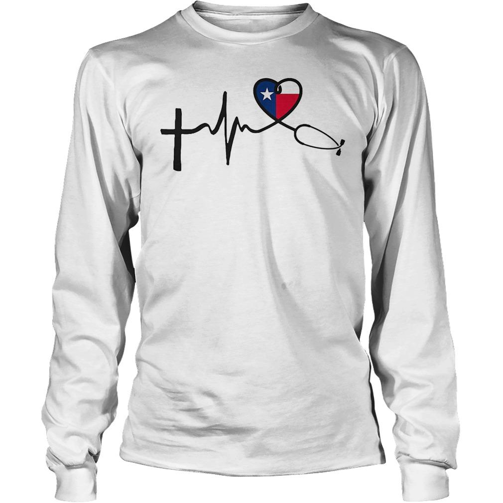 Heartbeat Faith Hope Love Texas Longsleeve