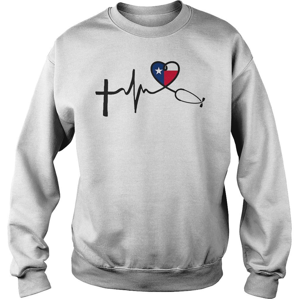 Heartbeat Faith Hope Love Texas Sweater