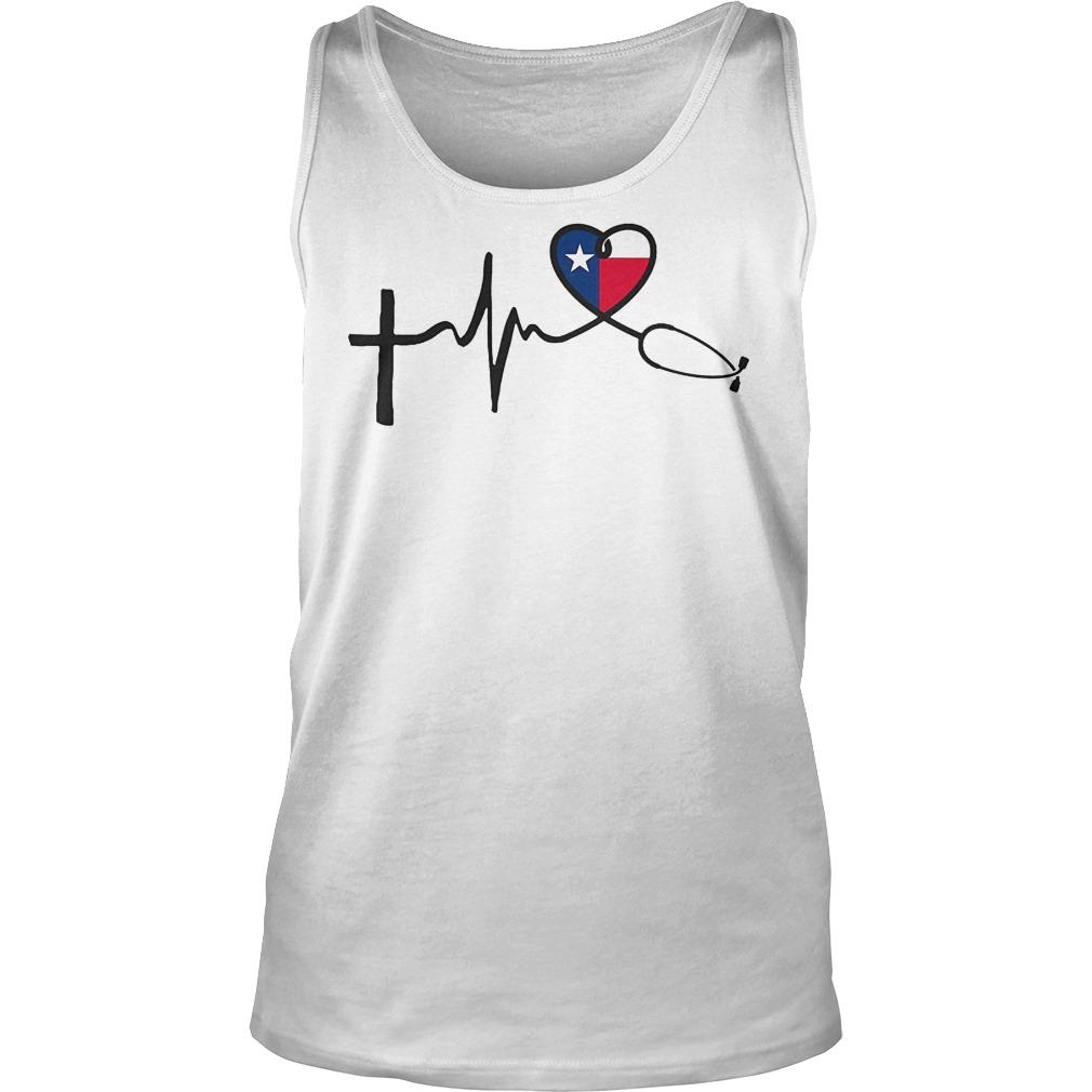 Heartbeat Faith Hope Love Texas Tanktop