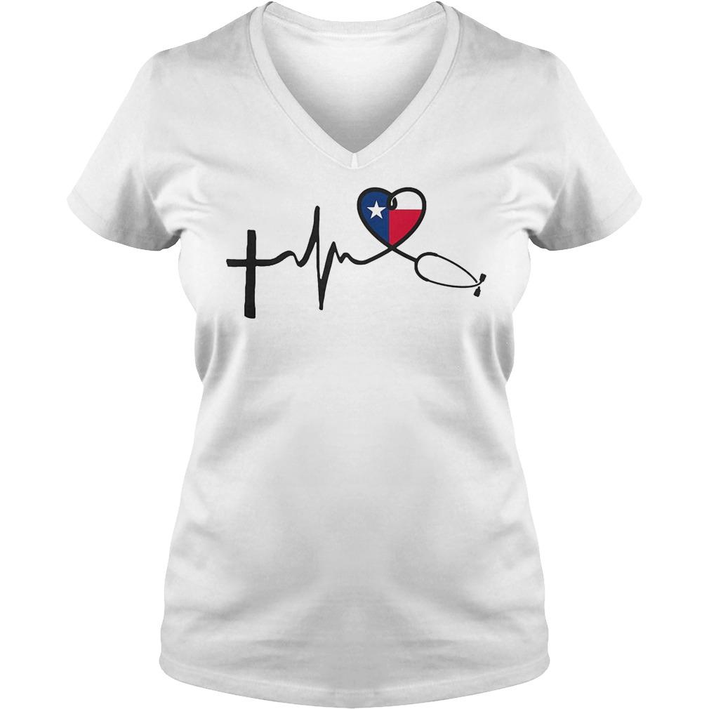 Heartbeat Faith Hope Love Texas V Neck