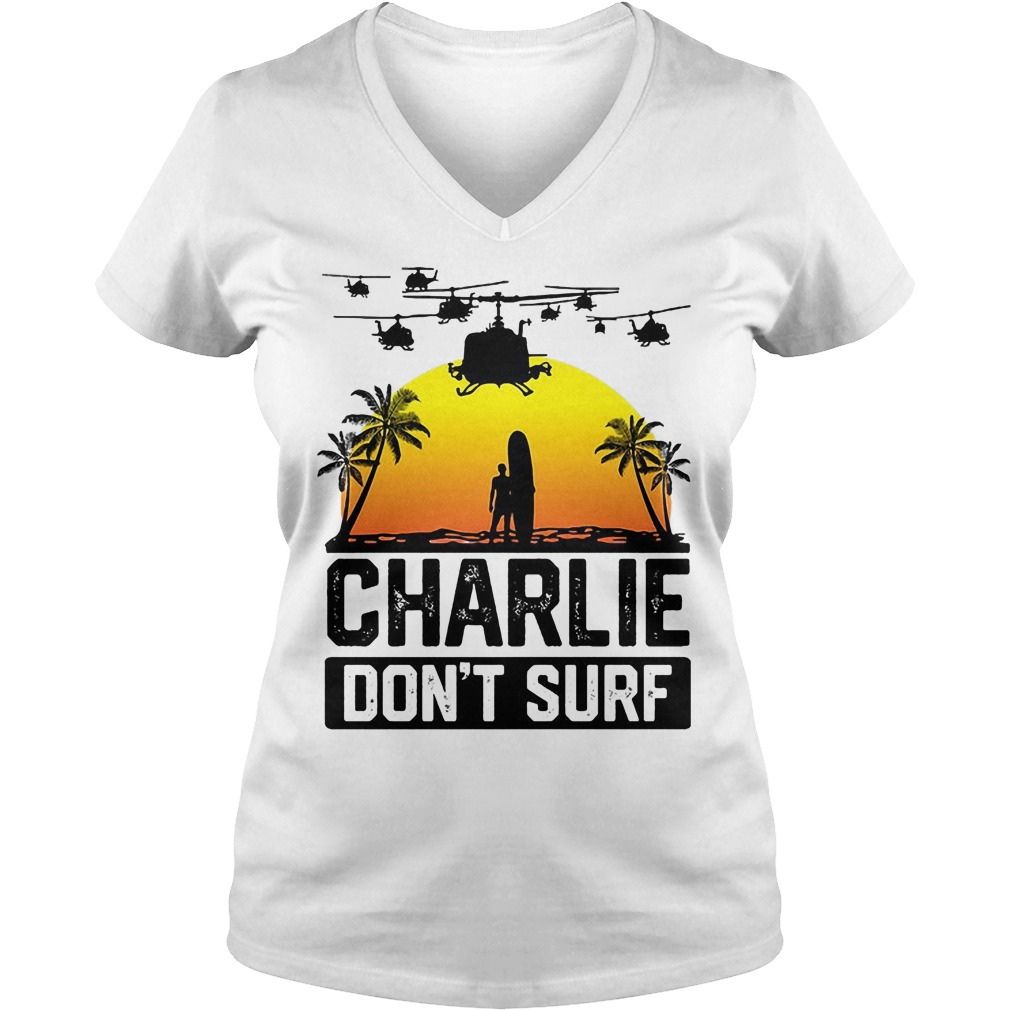 Official Viet Cong Victor Charlie Don't Surf V Neck