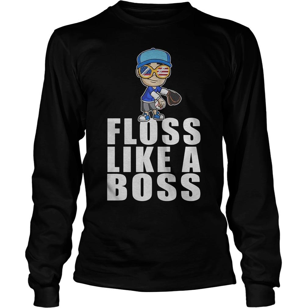 Baseball Floss Like A Boss Longsleeve