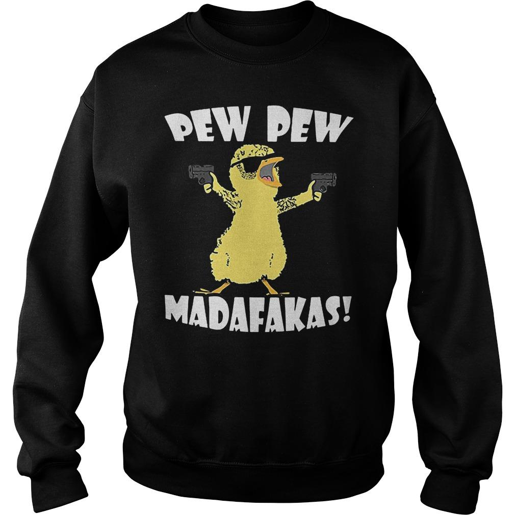 Cute Duck Pew Pew Madafakas Sweater