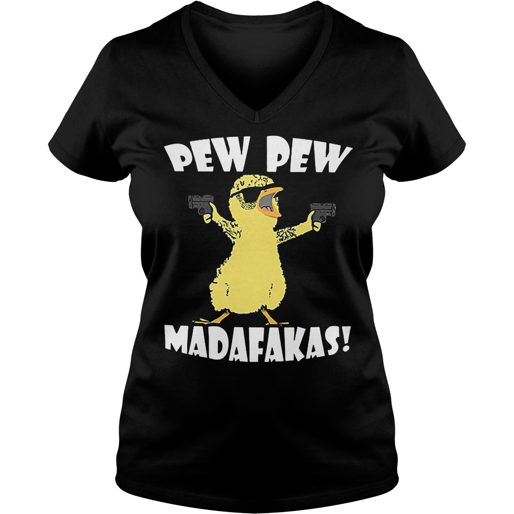 Cute Duck Pew Pew Madafakas V Neck