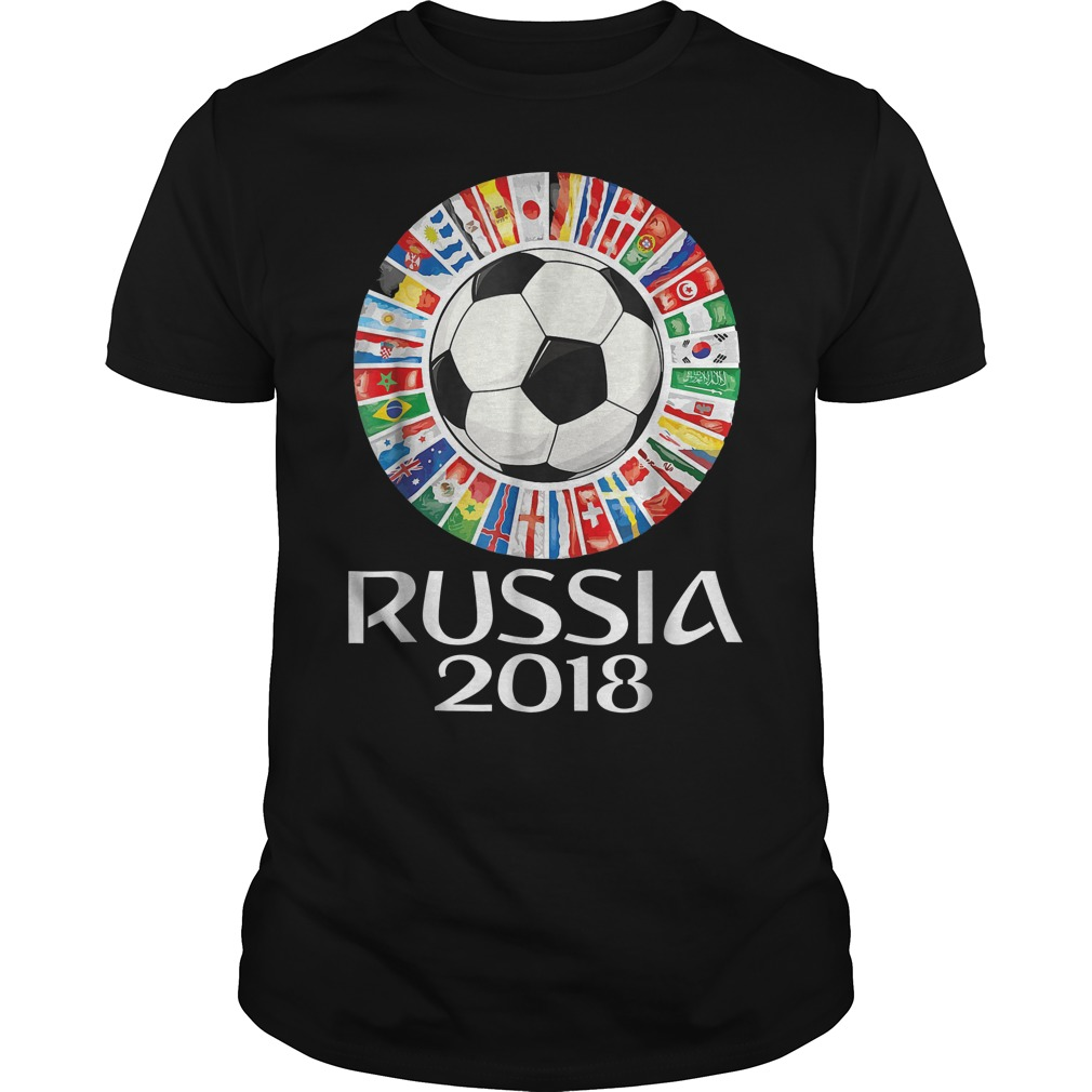 Russia Soccer World Cup 2018 All Teams T Shirt