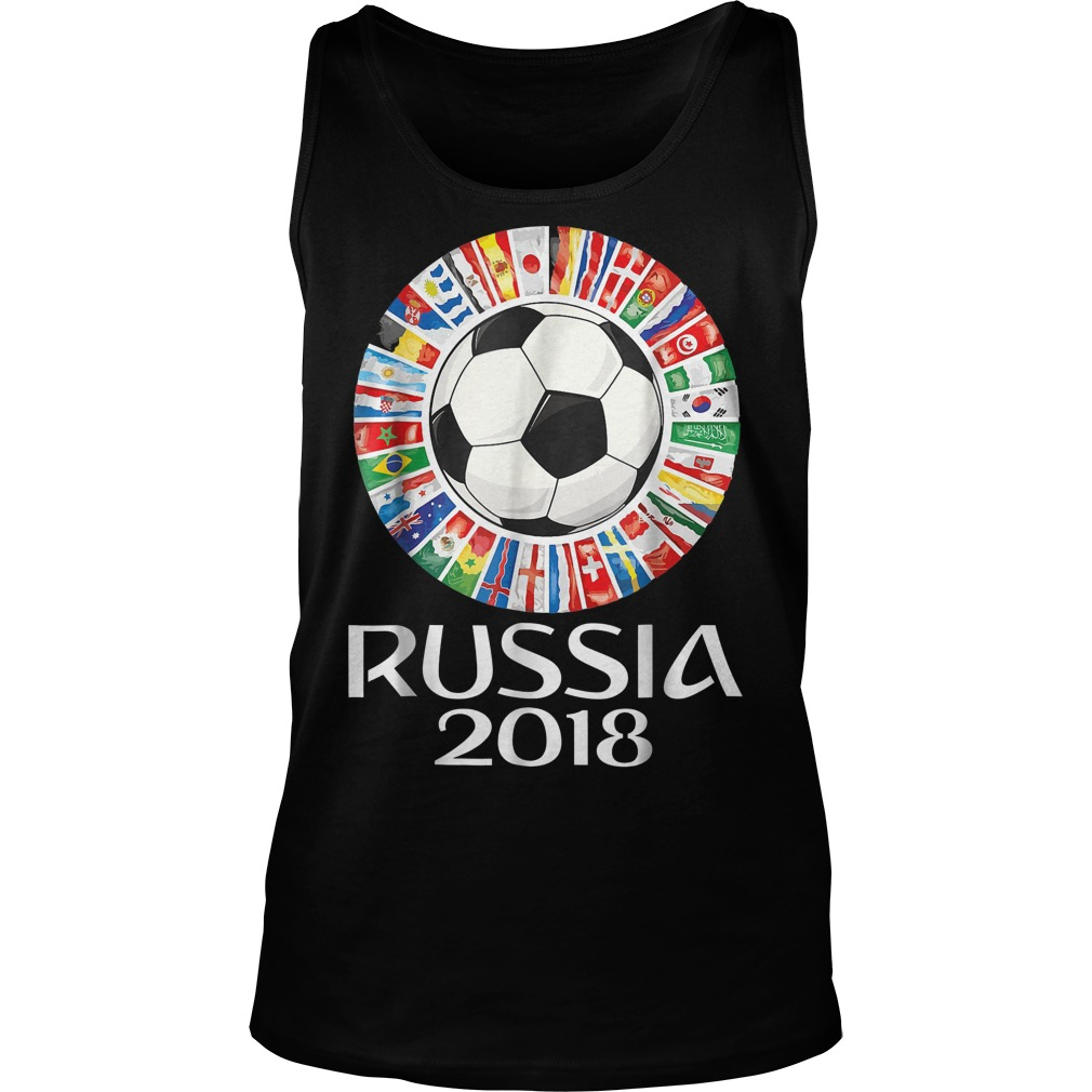 Russia Soccer World Cup 2018 All Teams Tanktop