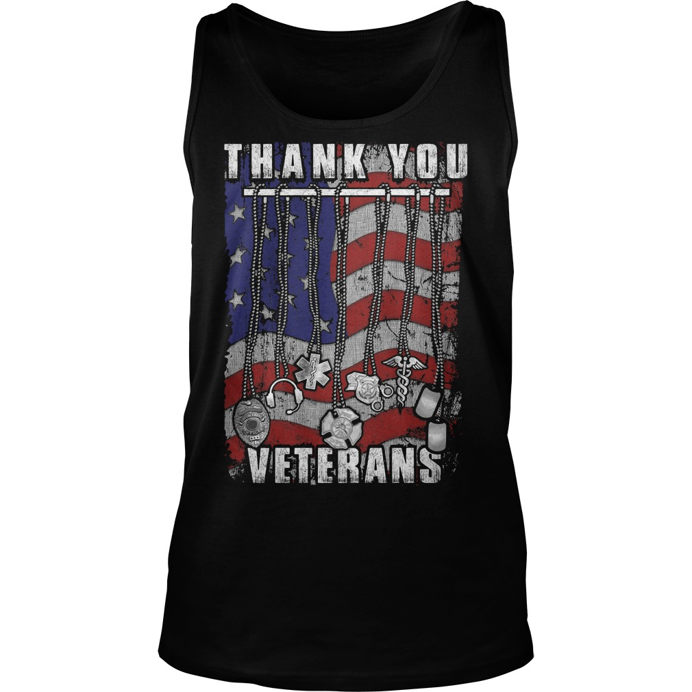 Thank You Veterans America Flag Tanktop