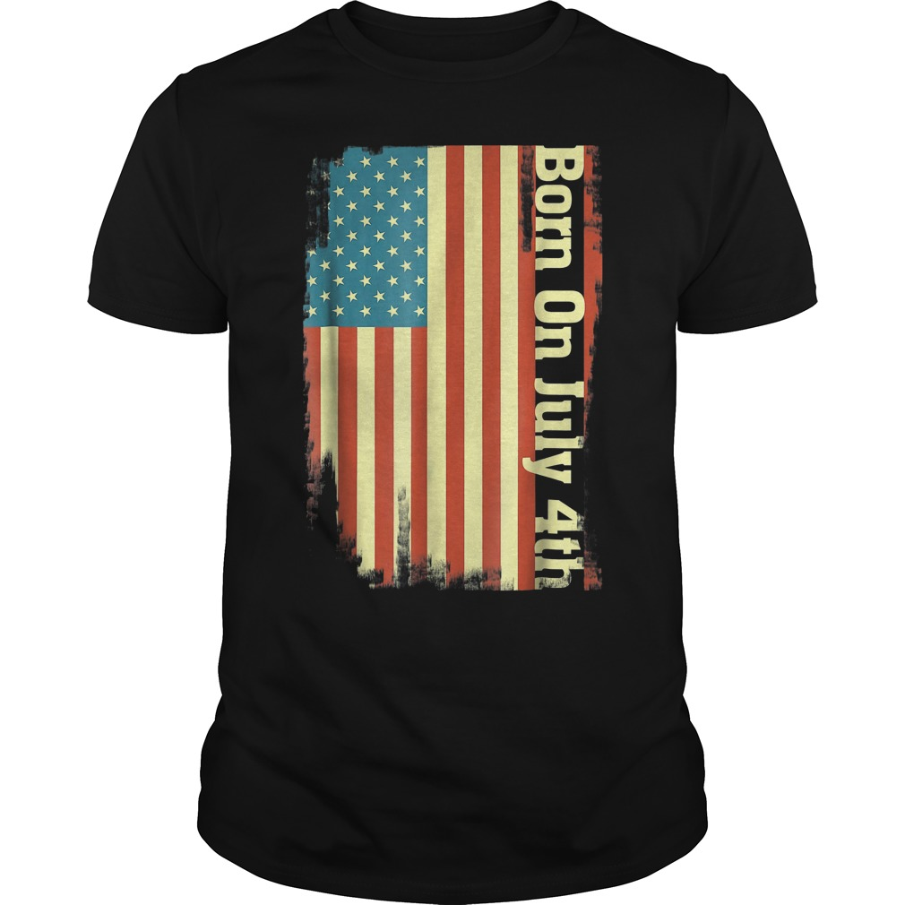Born On 7 4 July 4th Independence Dayt Shirt