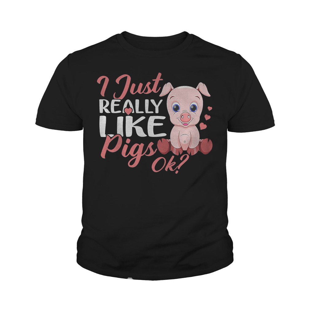 Official I Just Really Like Pigs T-Shirt Youth Tee