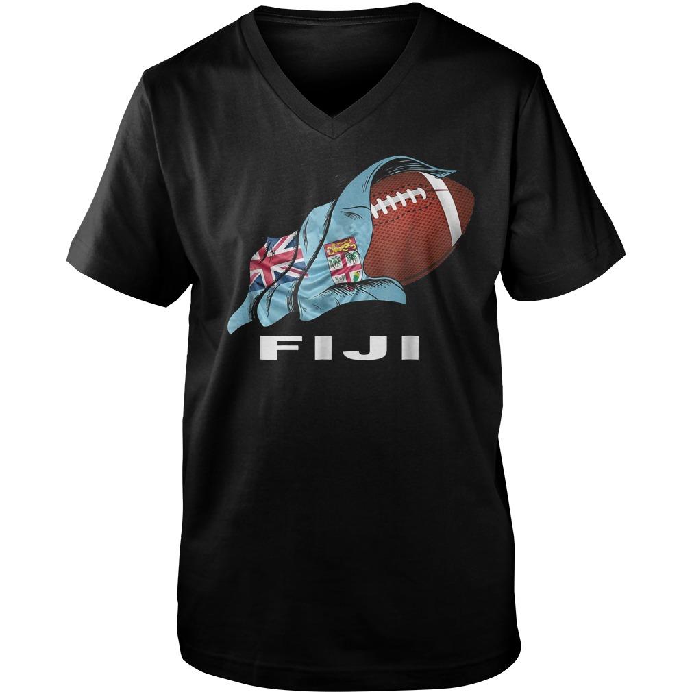 Rugby Fiji Sevens 2018 World Champions T-Shirt Guys V-Neck