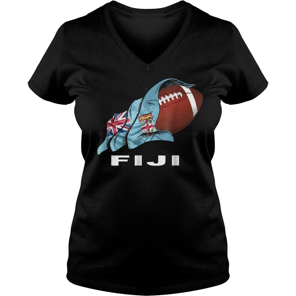 Rugby Fiji Sevens 2018 World Champions T-Shirt Ladies V-Neck