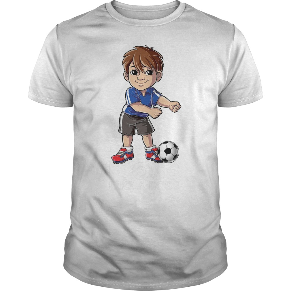 Soccer Boy Flossing Players Floss Like A Boss T-Shirt Guys Tee