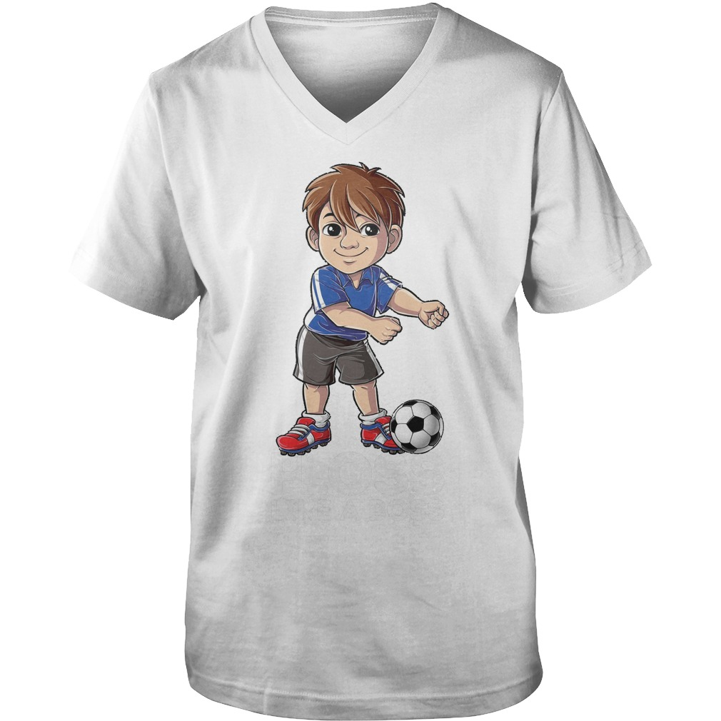 Soccer Boy Flossing Players Floss Like A Boss T-Shirt Guys V-Neck