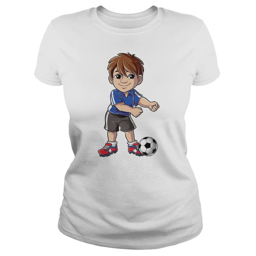 Soccer Boy Flossing Players Floss Like A Boss T-Shirt Ladies Tee