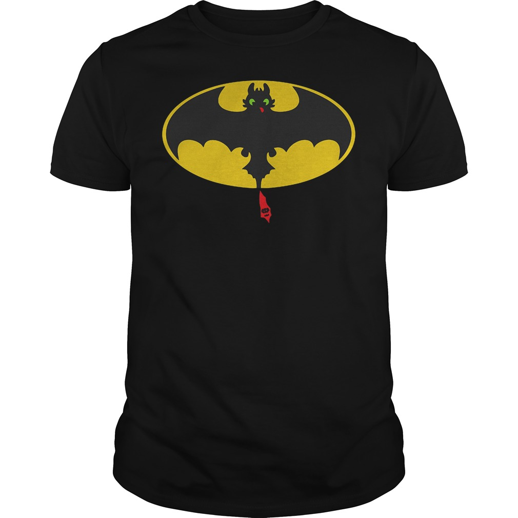 Toothless Batman How To Train Your Dragon Mashup T-Shirt Guys Tee