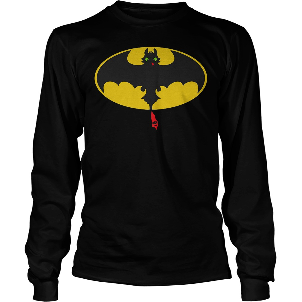 Toothless Batman How To Train Your Dragon Mashup T-Shirt Unisex Longsleeve Tee